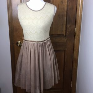 Weston Wear Anthropologie Knit/Tulle Dress Size P